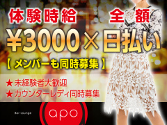 高知県高知市|ラウンジ・クラブ|Bar Lounge apo(アポ)